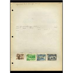 1936 Peru Hand Made Stamp Collection Album Page  4 Pieces (STM-0139)