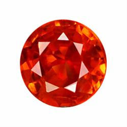 3.4mm Natural Orange Red Songea Sapphire (GMR-1034)