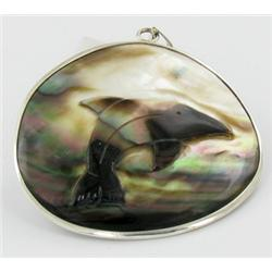 Sterling Mother of Pearl Pendant (JEW-1394)