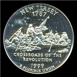1999S New Jersey 25c Proof Quarter Coin Graded ICG PR70 DCAM (COI-5417)