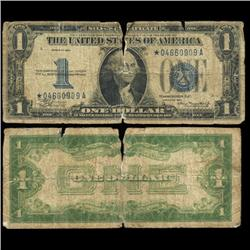 1934 $1 Silver Certificate Star Note Circulated Scarce (CUR-06002)