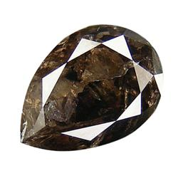 5.55ct Giant Chocolate Brown Pear Diamond (GEM-16165)