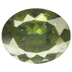 2.98ct Deep Green AAA 11X9mm Moldavite (GEM-16291)