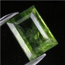 6.12ct Rutile Dark Green Peridot Appraised $4k (GEM-18159)