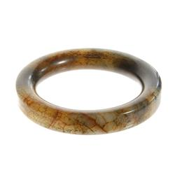 Hi Grade Brown Jade Bangle Bracelet  (JEW-090)