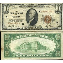 1929 $10 Federal Reserve Bank New York Note Crisp Circulated Scarce (CUR-06230)