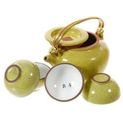 Chinese Glazed Clay Tea Set (DEC-051)