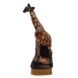 Rare Water Buffalo Horn Scrimshaw Giraffe (CLB-494)