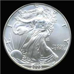 2005 Silver Eagle Graded GEM MS70 (COI-6269)