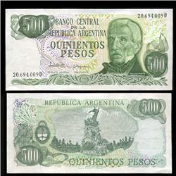 1980 Argentina 500 Peso Note Crisp Uncirculated (CUR-05556)