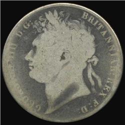 1823 Britain George IV Half Crown Circulated (COI-7072)