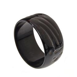 """Excellent polished natural piece of rare water buffalo horn; 2.75"""" inside diameter; $185 retail (JEW"""