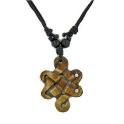 Tibet Handcarved Bone Pendant Necklace (ANT-870)