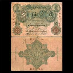 1910 Germany 50 Mark Note Hi Grade Very Rare (CUR-05664)