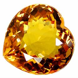 22.15ct Scrumptious Heart Cut Golden Yellow Citrine Gem  Appraisal Estimate $4430 (GEM-23328)