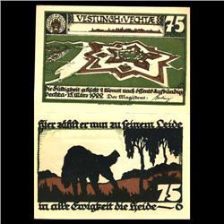 1922 75 Pfennig Vechtae Germany RARE Crisp Unc Note (COI-3726)