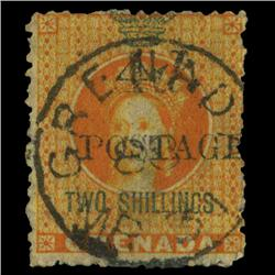1888 Grenada 4p Overprint on 2s Postage Stamp Scarce (STM-0602)