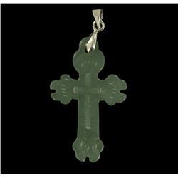 19.13ct Burmese Natural Imperial Jadeite Cross Pendant (JEW-2041)