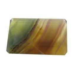 67.34ct RARE Emerald Cut Translucent Agate (GEM-23993B)