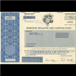 1990s Horizon Healthcare Stock Certificate Scarce (COI-3437)