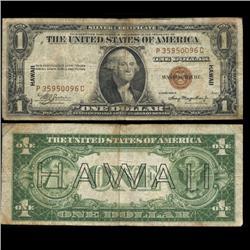 1935A Hawaii $1 Silver Certificate Circulated Scarce WW2 (CUR-06001)