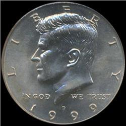 1999D Kennedy Half 50c Coin Graded GEM (COI-6919)