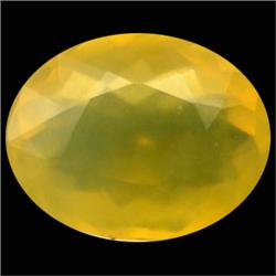 20.90ct Natural Yellow Mexico Opal Oval   (GEM-23758)