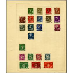 1940s Norway Hand Made Stamp Collection Album Page 22 Pieces (STM-0267)