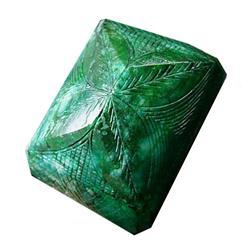 256ct Checker Cut Rectangle Shaped Emerald Gem (GEM-11733)