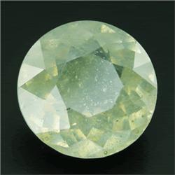 7.10ct Neon Lemon/Green Round Cut Sapphire Mozambique   (GEM-23439)