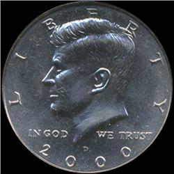 2000D Kennedy Half 50c Coin Graded GEM (COI-6922)