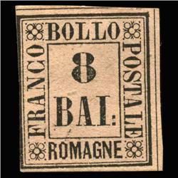1859 RARE Italy Romagna 8b Postal Stamp Hi Grade MINT (STM-0203)