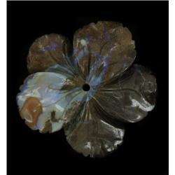 62.2ct Handcarved Rare Australian Boulder Opal Plumeria (GEM-20380)