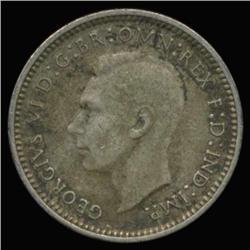 1938 Australia Silver 3 Pence Hi Grade (COI-6669)