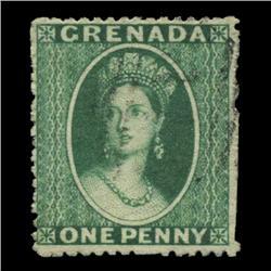 1861 Grenada 1p Postage Stamp Nice (STM-0609)