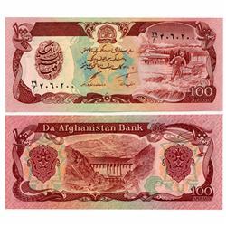 1991 Afghanastan 100 Afghanis Crisp Unc Note (CUR-05617)