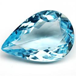 6.04ct TOP GRADE Swiss Blue Pear Topaz (GMR-1011)