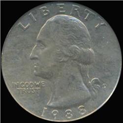1988D Washington 25c Quarter Coin Graded GEM (COI-6899)