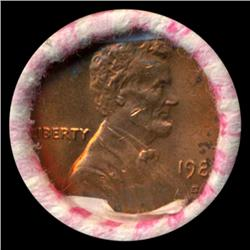 1981D Lincoln Cent RARE Never Opened Original Bank Roll 50 GEMS (COI-5523)