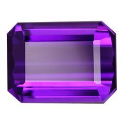 1.25ct Emerald Cut Purple Amethsyt  (GMR-0767A)