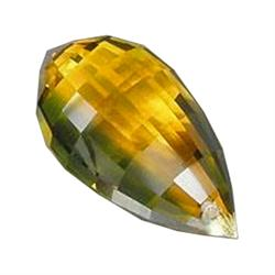 17.10ct Lustrous Briolitte Yellow & Green Citrine (GEM-23033B)