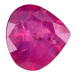 1.11ct Unheated Natural Red Ruby Tanzania Pear Shape (GEM-21358)