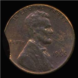 1965 Lincoln Cent Clipped Error Choice UNC (COI-6299)