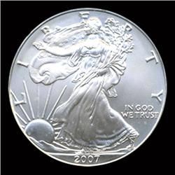 2007 Silver Eagle Graded GEM MS70 Rare FIRST DAY (COI-4066)