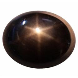 6.15ct Opaque Oval Cabochon Black Star Sapphire Natural  (GEM-23246)