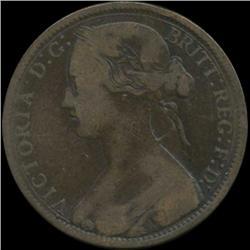 1864 Britain Victoria Penny Better Grade (COI-7049)