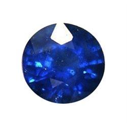 0.75ct Round Shape Natural Blue Sapphire (GEM-25289)