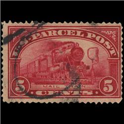 1913 US 5c Parcel Post Stamp NICE (STM-0562)