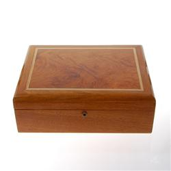 Inlaid Burl Box Handmade Rare Teak Wood (DEC-176)