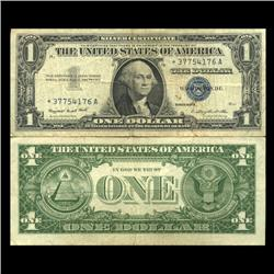 1957 $1 Silver Certificate Star Note Better Circulated RARE (CUR-06018)